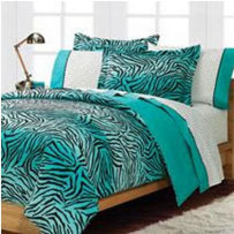 Teal Turquoise Blue And White Zebra Print Bedroom Ideas