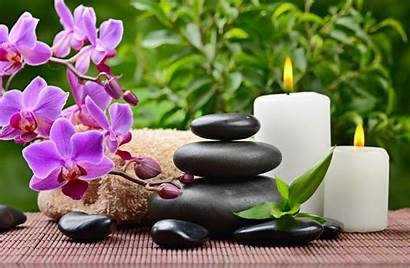Spa Stones Orchid Zen Massage Wallpapers Leaves