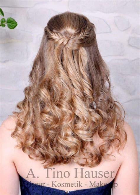 abschlussball frisuren lange haare abschlussball frisur halb offen friseur