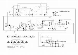 Circuit Diagram  Subwoofer Filter Circuit