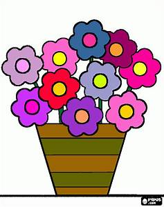 Vaso de flores para imprimir , desenho Vaso de flores