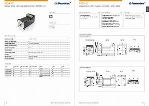Stepper Motor With Integrated Controller  Integrated Motor