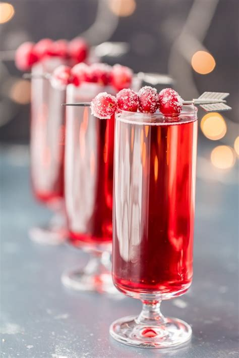 Sugared Cranberry Ginger Mimosas Drinkwire