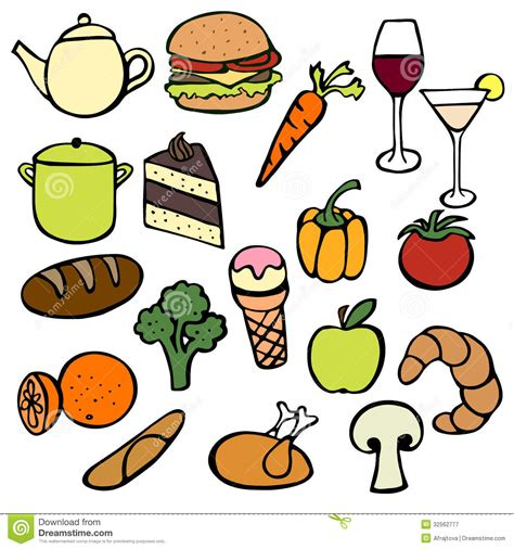 cuisine dwg food doodles stock vector image of dinner fruit icon