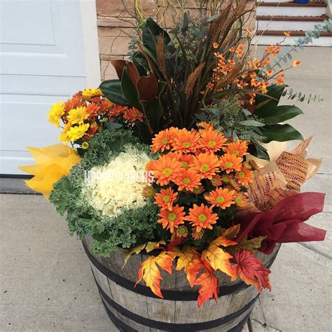Fall Containers Fall Planters Fall Container Gardens