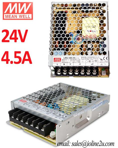 Meanwell Mean well LRS-100-24 AC to DC 24v 4.5a 108w PSU ...