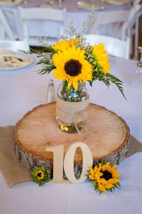 sunflower table arrangements ideas  pinterest