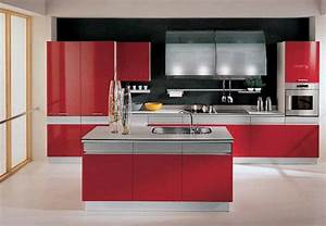 adorable contemporary small kitchen design ideas with With red kitchen designs photo gallery