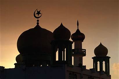 Mosque Domes Malaysia Dusk Silhouetted Features Parts