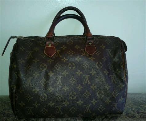 Vtg Authentic Louis Vuitton Speedy 30 Monogram Handbag