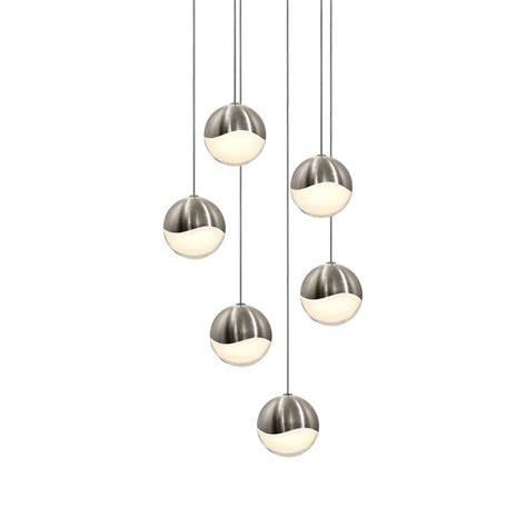sonneman 2915 13 med grapes contemporary satin nickel led