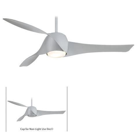 minka aire f803l sl silver artemis led 58 quot ceiling fan w