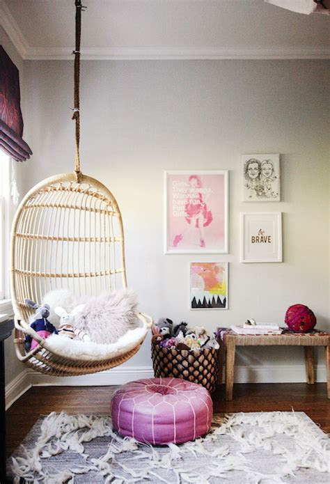 hanging chair  kids room contemporary girls room