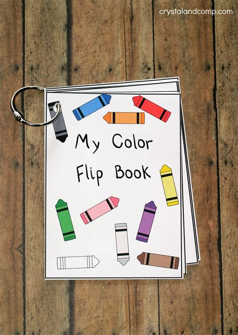 teach colors  kids flip book