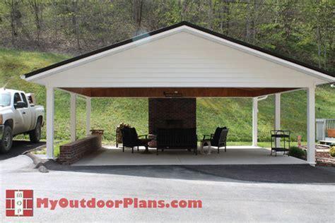 DIY Double Carport   MyOutdoorPlans   Free Woodworking