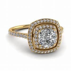 yellow gold cushion white diamond engagement wedding ring With yellow gold diamond wedding rings