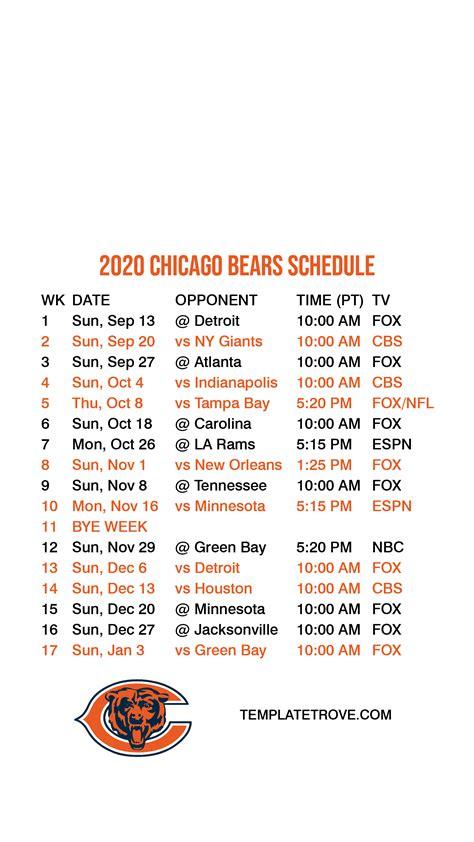 chicago bears lock screen schedule  iphone