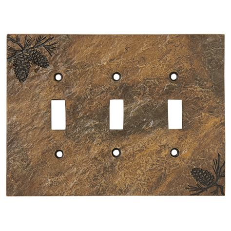finish pinecone switch plate cover