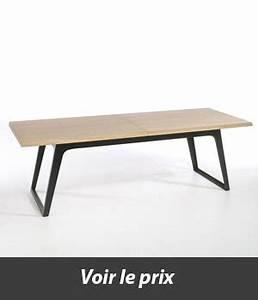 Table Bois Metal Avec Rallonge : table style industriel avec rallonges quel mod le choisir ~ Teatrodelosmanantiales.com Idées de Décoration