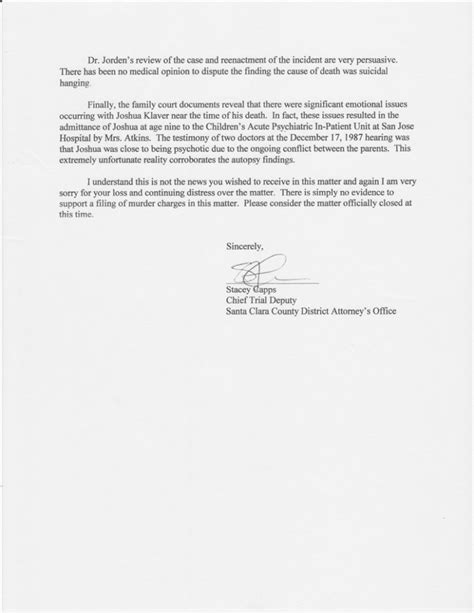 das closing letter child death review boards findings