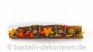 Herbstdeko Selbst Gemacht : herbstdekoration auf rinde basteln und dekorieren ~ Orissabook.com Haus und Dekorationen