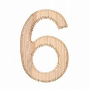 6quot beveled unfinished wood number 6 word and letter With wooden craft letters and numbers
