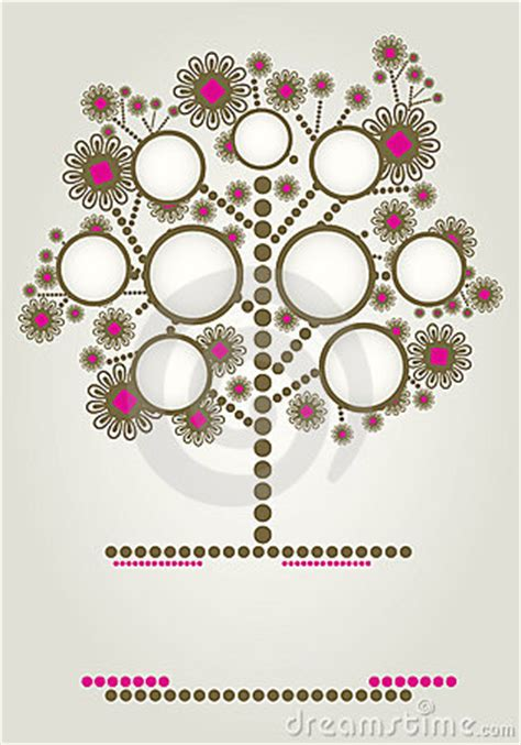 vector family tree design  frames stock photo image