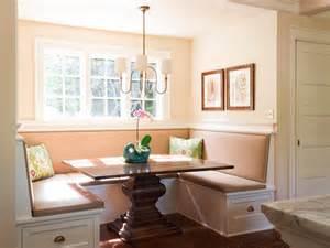 small breakfast nook design with rectangular pedestal oak