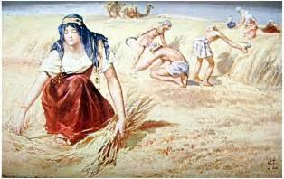 The Art of Ruth Boaz Gleaning in Fields