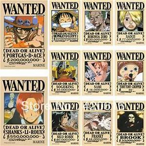 New 16.5''x11.4'' One Piece Huge Wanted Poster Luffy ...