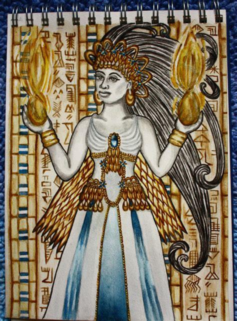 inanna sumerian goddess by sapphiresphinx on deviantart