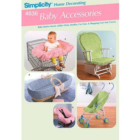 Simplicity Pattern Baby Accessories, Covers For Rocking