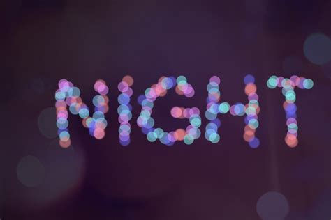 creating text effects night lend  word effect