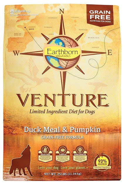earthborn holistic venture duck meal pumpkin limited