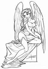 Coloring Angel Pages Angels Drawing Deviantart Sketch Tattoo Adult Sabinerich Printable Adults Female Coloriage Baseball Gabriel Drawings Egraving Studio Wings sketch template