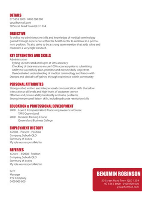 Matching Resume And Business Card by Gold Coast Curriculum Vitae Design And Resume Design