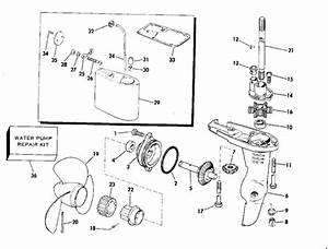 Johnson Gearcase Parts For 1975 2hp 2r75d Outboard Motor