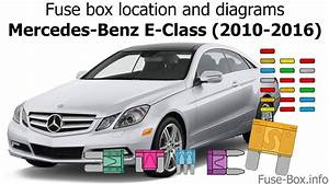 Fuse Box Location And Diagrams  Mercedes-benz E-class  2010-2016