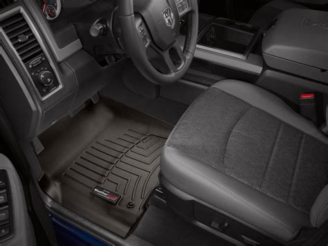 weathertech floor mats dodge ram weathertech floor mats floorliner for dodge ram 1500 2012 2017 cocoa ebay