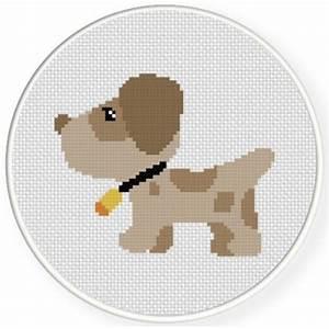 Dog Food Quantity Chart Cute Brown Dog Cross Stitch Pattern Daily Cross Stitch