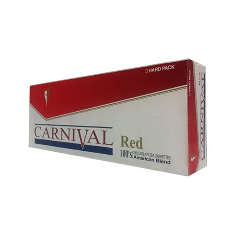 Carnival Red 100s Box  Budget Brands  Cigarettes Texas