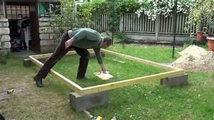 Gouttière Pour Abri De Jardin : par philordi reffection de mon 1er abris de jardin phase 2 le cadre du plancher partie 1 ~ Melissatoandfro.com Idées de Décoration