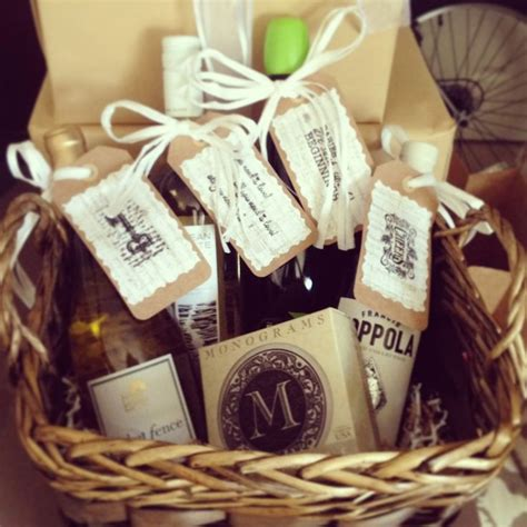 Wine Basket Shower Gift - 30 best images about wine gift baskets on