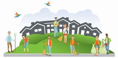 Clean Neighborhood Event Community Volunteer Pride Events