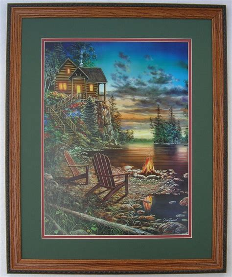 Jim Hansel Hunting Lodge Prints Framed Country Pictures