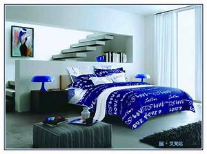 Royal Blue Comforter Set Queen Elegant Bedroom With Blue