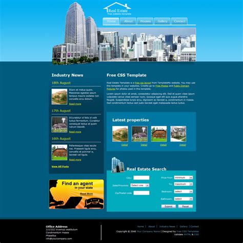 real estate template 25 free premium real estate html website templates