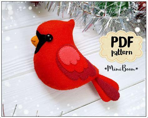 cardinal ornament pattern christmas cardinal pattern felt