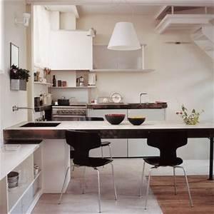 cuisine moderne en beton succombez a la tendance marie With tres grande table salle a manger pour petite cuisine Équipée