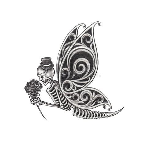 Art Butterfly Tattoo Stock Illustration